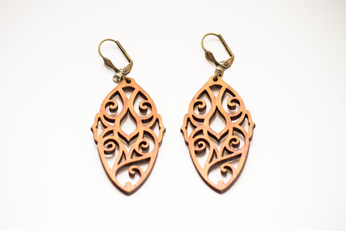 Pen and Process: Bamboo Absinthe Earrings